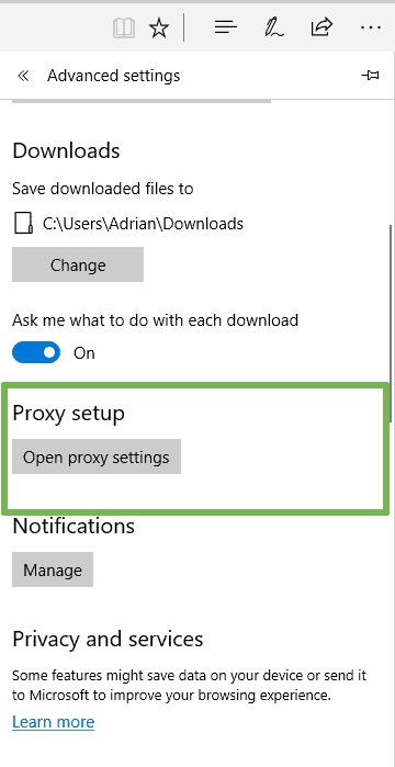 How to use SOCKS proxy on Microsoft Edge - Proxy setup
