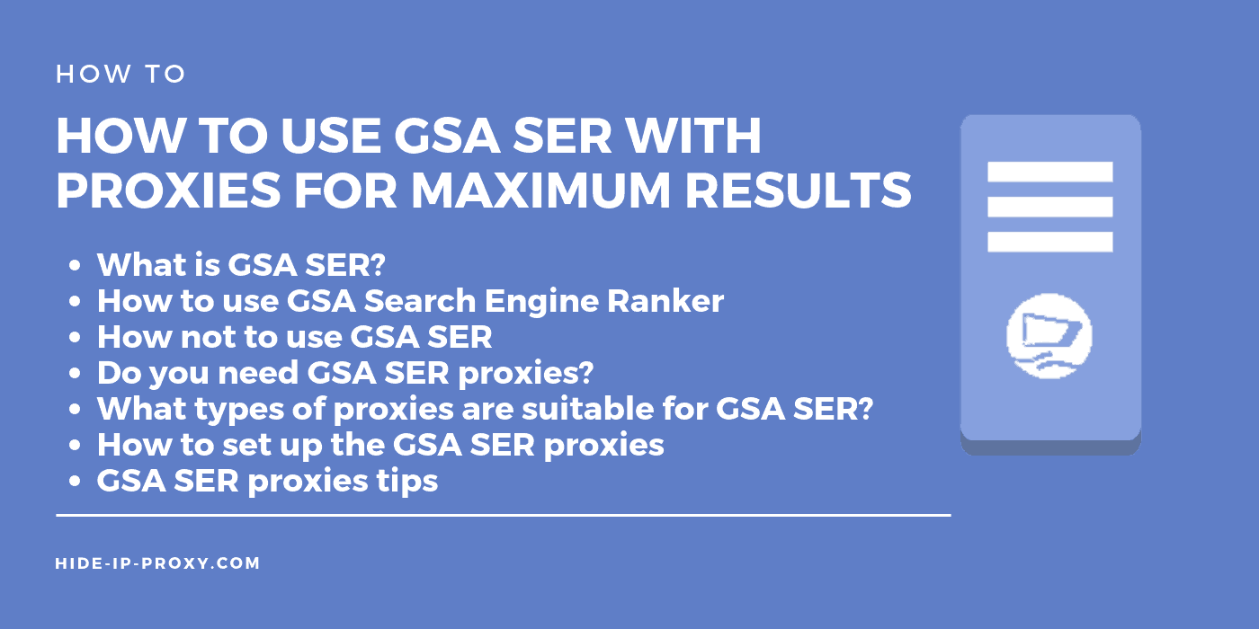How to use GSA SER proxies - Banner